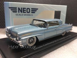 【送料無料】模型車 モデルカー スポーツカー ネオスケールモデルリンカーンコンチネンタルハードディスクネオneo scale models 143 lincoln continental mkii hard top coup 1958 art neo46001