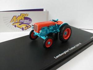 【送料無料】模型車 モデルカー スポーツカー トターランボルギーニオレンジschuco 09028 traktor lamborghini trattori 2241 r in blau orange 143 neu