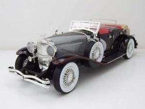 【送料無料】模型車 モデルカー スポーツカー シルバーブラックモデルカーグッズduesenberg ii sj 1934 silberschwarz, modellauto 118 greenlight collectibles