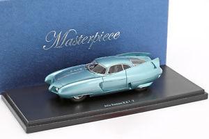 【送料無料】模型車 モデルカー スポーツカー アルファロメオコンセプトカートリノモーターメタリックオーストリアalfa romeo bat 7 concept car turin motor show 1954 hellblau metallic 143 aut