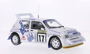 【送料無料】模型車 モデルカー スポーツカー ラリーサンmg metro 6r4, 17, unipart, 1000 lakes rallye, 118, sun star