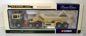 【送料無料】模型車 モデルカー スポーツカー コーギータンカーcorgi 150 74904 erf ec powder tanker wr wood haulage ltd