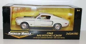 【送料無料】模型車 モデルカー スポーツカー マスタングホワイトertl 118 32518 1968 mustang cj428 white