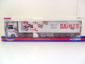 【送料無料】模型車 モデルカー スポーツカー コーギーボックストレーラーセインツトランスポートcorgi 150 cc13406 man tga xxl box trailer saints transport