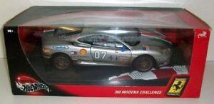 【送料無料】模型車 モデルカー スポーツカー ホットホイールフェラーリモデナチャレンジシルバーhot wheels 118 29751 ferrari 360 modena challenge silver
