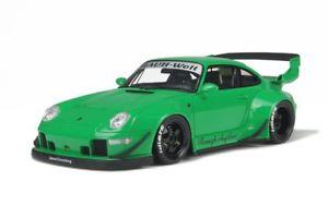 【送料無料】模型車 モデルカー スポーツカー ポルシェビルトグリーングアテマラporsche 911 993 rwb baujahr 1996 2015 grn 118 gt spirit 074