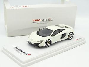 【送料無料】模型車 モデルカー スポーツカー スケールモデルマクラーレンクーペブランシュtrue scale model tsm 143 mclaren 650s coupe 2015 blanche