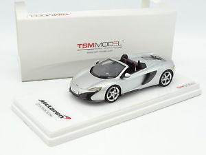 【送料無料】模型車 モデルカー スポーツカー スケールモデルマクラーレンスパイダーシルバーtrue scale model tsm 143 mclaren 650s spider 2015 silver