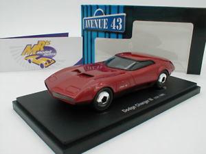 【送料無料】模型車 モデルカー スポーツカー カルトダッジチャージャーメタリックレッドautocult avenue 43 60012 dodge charger iii baujahr 1968 rotmetallic 143
