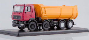 【送料無料】模型車 モデルカー スポーツカー トラックマズテクノロジーズオレンジssm lkw 143 maz6516 baukipper rotorange 4achs