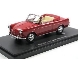 【送料無料】模型車 モデルカー スポーツカー カルトアベニューフォルクスワーゲンタイプカブリオレタイプカブリオレレッドautocult avenue 43 60003 1961 vw 1500 typ 3 cabriolet karmann rot 143