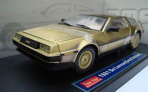 【送料無料】模型車 モデルカー スポーツカー クーペゴールドエディションモデルサンスターdelorean dmc coupe 1981 gold edition, 1 18 diecast model sunstar 2702, neuamp;ovp
