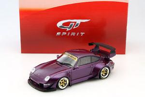【送料無料】模型車 モデルカー スポーツカー ポルシェソフトウェアライセンスパープルゴールドグアテマラporsche 911 993 rwb lila gold 118 gtspirit