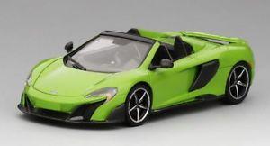 【送料無料】模型車 モデルカー スポーツカー マクラーレンクモモデルmclaren 675lt spider 2016 mantis green 143 model true scale miniatures