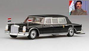 【送料無料】模型車 モデルカー スポーツカー メルセデスベンツサダムフセインイmercedes benz 600 pullman landaulet 1978 saddam hussein president of iraq 143