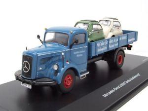 【送料無料】模型車 モデルカー スポーツカー メルセデスプラットフォームモデルカーmercedes l 6600 pritsche isetta auslieferung blau, modellauto 143 schuco