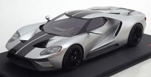 【送料無料】模型車 モデルカー スポーツカー スケールフォードシカゴオートショーシルバー118 true scale ford gt chicago auto show 2015 silver