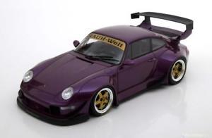 【送料無料】模型車 モデルカー スポーツカー グアテマラポルシェソフトウェアライセンスパープルメタリック118 gt spirit porsche 911 993 rwb purplemetallic