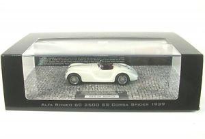 【送料無料】模型車 モデルカー スポーツカー アルファロメオスパイダーコルサalfa romeo 6c 2500 ss corsa spider white 1939, 米子市 7b8d8d9f