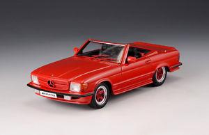 【送料無料】模型車 モデルカー スポーツカー メルセデスベンツロードスターモデルmercedes benz amg r107 roadster red1980 glm models 143 206101