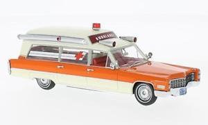 【送料無料】模型車 モデルカー スポーツカー キャデラックホワイトオレンジネオスケールモデルモデルcadillac samp;s white orange ambulance 1966 143 model neo scale models