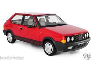 【送料無料】模型車 モデルカー スポーツカー フィアットアバルトlaudoracingmodels fiat ritmo abarth 130 tc 1983 118 lm100 red