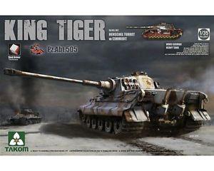【送料無料】模型車 モデルカー スポーツカー ドイツキングタイガーtakom german king tiger henschel turret wzimmerit sdkfz182 135 cod2047