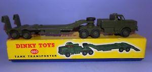 【送料無料】模型車 モデルカー スポーツカー オリジナルタンクトランスポーター* 1956 1971 * dinky toys * no 660 * tank transporter * in original box *