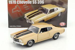 【送料無料】模型車 モデルカー スポーツカー シボレーchevrolet chevelle ss 396 baujahr 1970 wstensand schwarz 118 gmp