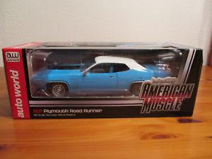 【送料無料】模型車 モデルカー スポーツカー アメリカプリマスロードランナー118 ertl american muscle 1971 plymouth road runner neu ovp