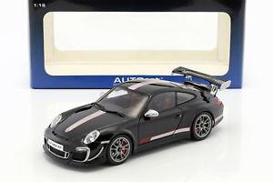 【送料無料】模型車 モデルカー スポーツカー ポルシェグアテマラルピービルドporsche 911 997 gt3 rs 40 baujahr 2011 schwarz silber 118 autoart