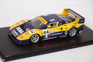 【送料無料】模型車 モデルカー スポーツカー レッドラインフェラーリ#ルマンred line ferrari f40 gte 44 le mans 1996 sur socle 143