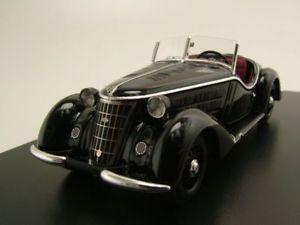 【送料無料】模型車 モデルカー スポーツカー ウォーカーブラックロードスターモデルカースケールモデルwanderer w 25k roadster 1936 schwarz, modellauto 143 neo scale models