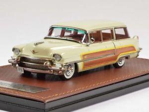 【送料無料】模型車 モデルカー スポーツカー キャデラックシリーズワゴンglm cadillac series 62 hess amp; wagon 1956 white 143 glm120302