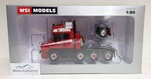 【送料無料】模型車 モデルカー スポーツカー モデルスカニアヘビーデューティトターアクスルwsi models 150 042028 scania t5 torpedo tl schwerlastzugmaschine 41 achse