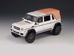 【送料無料】模型車 モデルカー スポーツカー メルセデスマイバッハglm mercedes maybach g650 landau closed white 143 glm207602