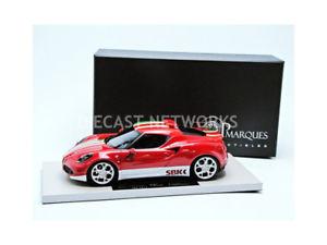 【送料無料】模型車 モデルカー スポーツカー トップマルケスアルファロメオトップtop marques collectibles 118 alfaromeo 4c sbk 2014 top011 sbk