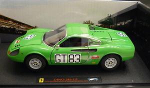 【送料無料】模型車 モデルカー スポーツカー ホットホイールエリートフェラーリディノキロhot wheels elite 118 ferrari dino 246 gt 1000 kilometres nuburgring 1971 t6260