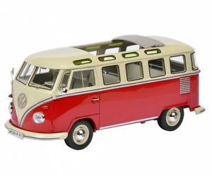 【送料無料】模型車 rot モデルカー samba スポーツカー サンババスschuco pror 08990 132 bus vw t1 samba bus rot weiss neu, summer.s:72d457b5 --- rakuten-apps.jp