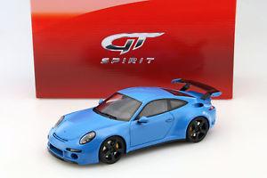 【送料無料】模型車 モデルカー スポーツカー ポルシェグアテマラporsche 911 991 ruf rtr baujahr 2015 blau 118 gtspirit
