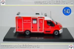 【送料無料】模型車 モデルカー スポーツカー ルノーマスターケーソンアルrenault master 3 caisson vsav 77 seine amp; marne chelles alerte al 0035 143