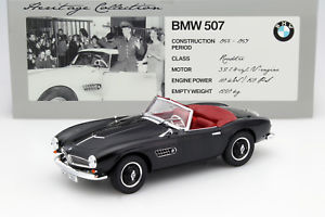 【送料無料】模型車 モデルカー スポーツカー ロードスターブラックbmw 507 roadster baujahr 1956 schwarz 118 norev
