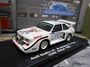 【送料無料】模型車 モデルカー スポーツカー アウディスポーツクワトロアルスターラリームートンシェルaudi sport s1 e2 quattro rallye ulster 1985 1 mouton shell pi grb umbau 143