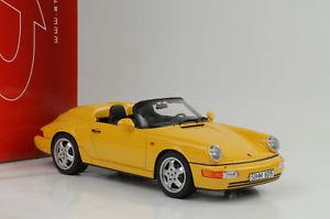 【送料無料】模型車 モデルカー スポーツカー ポルシェグアテマラ1992 porsche 911 964 speedster yellow gelb 118 gt spirit