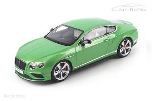 【送料無料】模型車 モデルカー スポーツカー ベントレーコンチネンタルクーペグリーングアテマラbentley continental gtv8 s coupe grn 1 of 1500 gt spirit 118 gt077