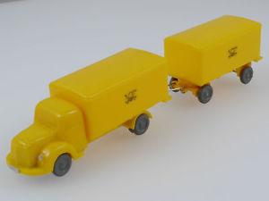 【送料無料】模型車 モデルカー スポーツカー ワゴントレーラーwiking 1833 unverglast mb 3500 postwagen 10223 anhnger 16060411