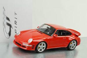 【送料無料】模型車 モデルカー スポーツカー ポルシェターボレッドグアテマラ1998 porsche 911 993 ruf turbo r rot 118 gt spirit zm110