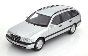 【送料無料】模型車 モデルカー スポーツカー ボスメルセデスシルバー118 bos mercedes c220 s202 estate 1996 silver