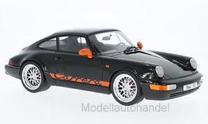 【送料無料】模型車 モデルカー スポーツカー ポルシェカレラブラックオレンジグアテマラporsche 911 964 carrera rs schwarzorange 118 gtspirit gt137