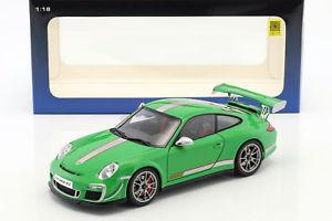 【送料無料】模型車 モデルカー スポーツカー ポルシェグアテマラルピービルドグリーンporsche 911 997 gt3 rs 40 baujahr 2011 grn 118 autoart